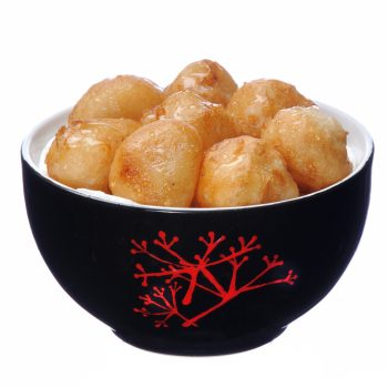 Lychee prăjite pane, unse cu miere livrare mancare chinezeasca